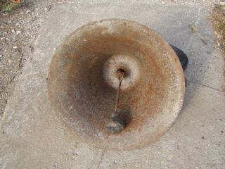 Vintage Cast Iron School Bell Antique Church Old Farm