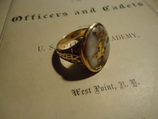 1881 US Military Academy West Point Class Ring Benjamin Alvord Jr by
