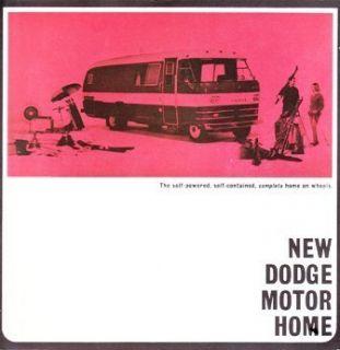 Vintage Dodge Motor Home camper Original Sales Brochure