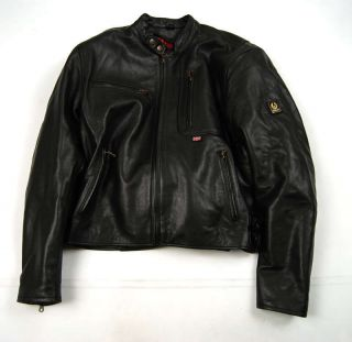 BELSTAFF Motorcycle Leather Jacket Black 48