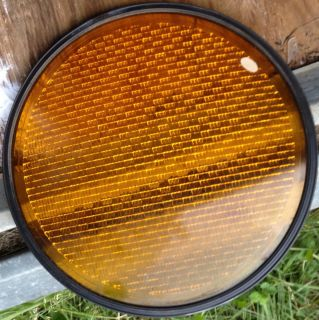 Yellow Traffic Signal Stop Light Lens for 12 Heads Glass with Seal