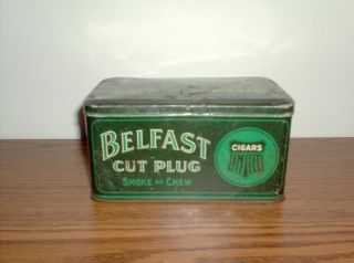 Vintage Belfast Cut Plug Tobacco Tin