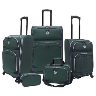 beverly hills country club san vincente 5 piece spinner luggage set