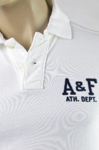 Mens Abercrombie Fitch A&F Moody Pond Polo T Shirt SZ L Muscle Slim