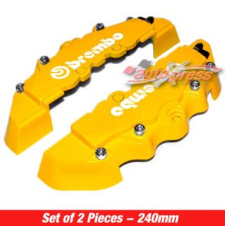 Brembo Style Brake Caliper Covers Front Rear Yellow 2pc