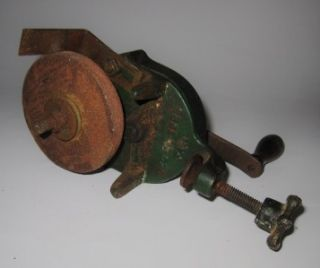 Antique Hand Crank Bench Grinder, Patent December 29, 1925, 3 1/2