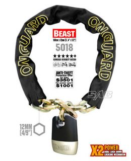 On Guard 5018 Beast Chain Motorcycle Bicycle Lock