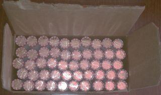 2012 D Denver Mint Union Shield Uncirculated Lincoln Penny Cent Box 50