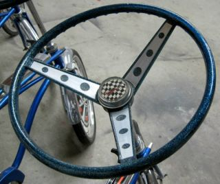 Bicycle Steering Wheel Insert DECAL Sticker Set fits Huffy Rail Muscle