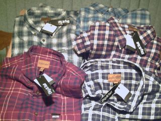 St Johns Bay Big Tall Mens Flannel Shirts 4XL 3XL