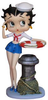 Betty Boop Sailor Pen Holder Collectible Large Figurine