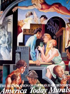 Thomas Hart Benton 38x40 Print City Activities with Dance Hall