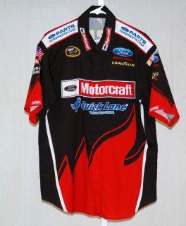 Bill Elliott Motorcraft Wood Brothers Race Used NASCAR Pit Crew Shirt