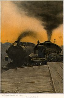 1910 William Harnden Foster Steam Engines Trains Color Plates