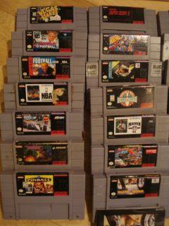 27 SNES Super Nintendo Game lot. Street Fighter II 2, Yoshis Safari