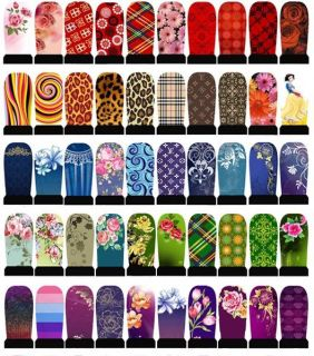 Stylish Thin Nail Art Polish Water Transfers False Nails Stickers