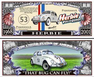 Comedy Herbie The Love Bug Volkswagen Beetle 1960s bill w protector