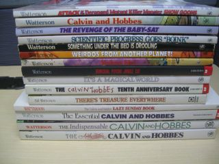 15 Calvin and Hobbes Bill Watterson Books Comics Cartoon Lot Very Good