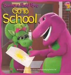 Barney and Baby Bop Go To School By Mark S Bernthal Brand New