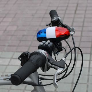 PC Bicycle Bike 4 Tones Electronic Light Siren Beeper Horn Bell