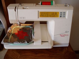 BERNINA DECO 600 EMBROIDERY MACHINE 3 Hoops Working condition with