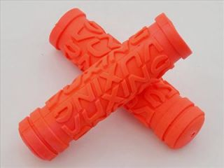 mountain bicycle orange red handlebar grip tape bike
