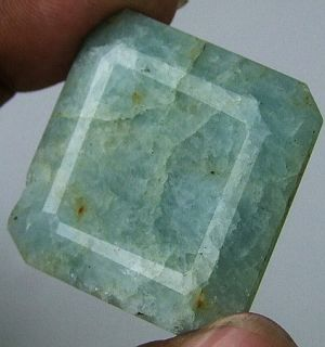 113 cts Huge Natural Beryl Aquamarine Untreated Faceted Cut Pendant