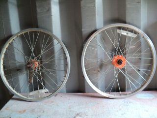 20 Schwinn Bicycle Wheel Set and Foot Cranks Bicycle Parts