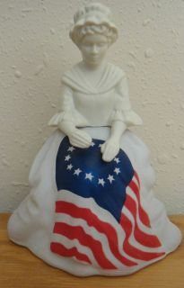 Avon Bottle Betsy Ross Figurine Full of Sonnet Cologne