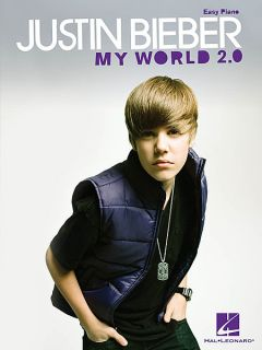 JUSTIN BIEBER   MY WORLD 2.0   EASY PIANO   SHEET MUSIC SONG BOOK