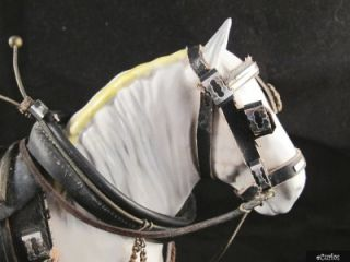 Beswick Dressed Horse Figurine 818 Shire Mare in Grey Harnessed Horses