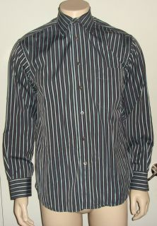 Billy Reid Mens Dress Button Front Shirt Striped Size M