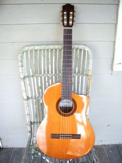 CE Classical Nylon String Electric Cutaway Guitar Mahogany Solid Top