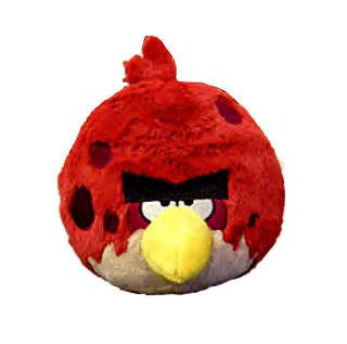 Angry birds space fire bomb black bird plush doll 8 large w sound - Angry birds big brother plush ...