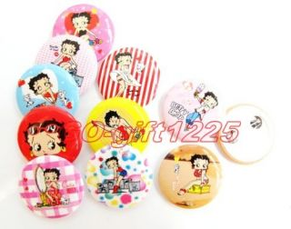 10 pieces 1080 Pcs betty boop Rounded Buttons Badges Pin Party Gift