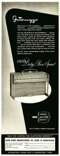 1943 Ad for The Lester Piano Co Betsy Ross Spinet Piano