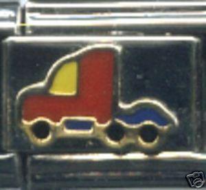 Semi Truck Big Rig Italian Charm Bracelet Link Charms