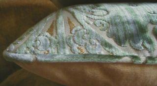 Bevilacqua Silk Velvet Fabric Custom Designer Throw Pillows Italy New