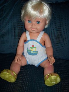 17 Tall Ideal 1989 Betsy Wetsy Doll 2 Blue Sleep Eyes Rooted Hair