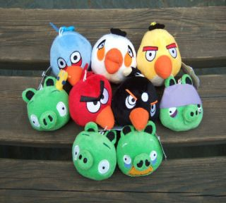 angry birds+ 4 pig game plush toy soft quantity 9pcs