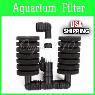 Aquarium Fish Tank Biochemical Bio Sponge Filter Air Pump Working