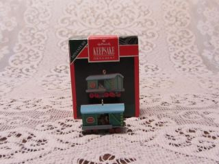Hallmark Keepsake Ornament Mini Collectors Series Noel R R Box Car