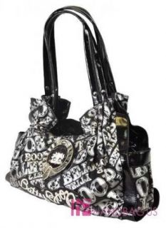 nwt licensed betty boop signature product satchel purse shoulder bag