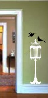 Bird Cage Vinyl Wall Decal Stickers Room Decor