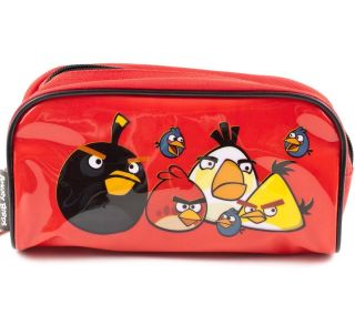 ANGRY BIRDS School Supplies Travel Makeup Gadget PENCIL CASE Boys Bag