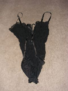 Vintage black gothic lingere size small marilyn monroe betty Page