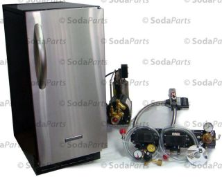 Flavor Home Soda Fountain Bar Gun System with Under CounterIce Maker