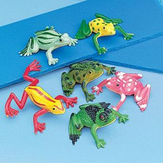 24 Frogs 2 Dozen Kids Birthday Party Favors Cake Toppers Minis