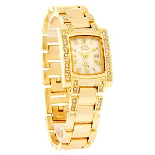 Beverly Hills Polo Club Ladies Gold Tone Mop Dial Crystal Dress Watch