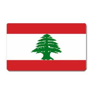 flag of lebanon lebanese beirut large fridge magnet click on image to
